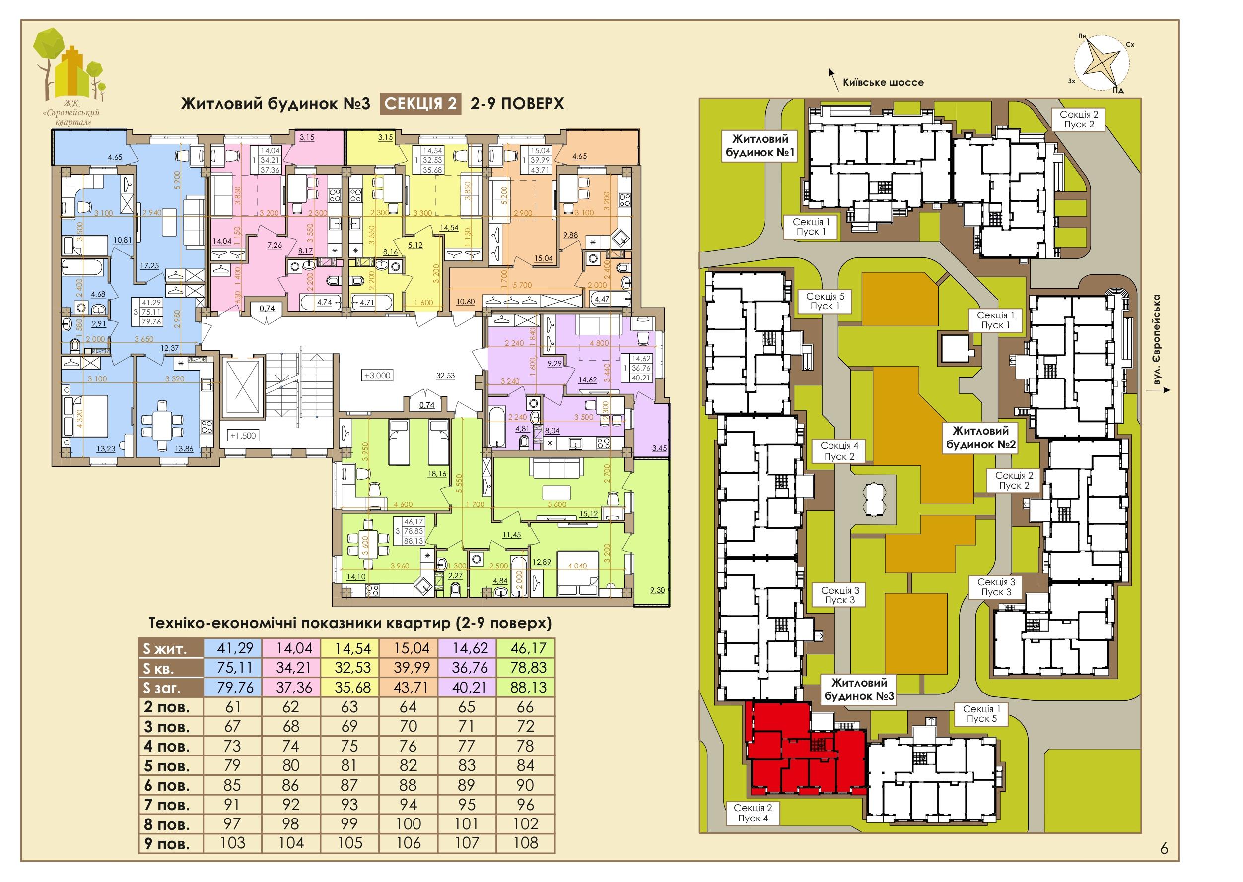 Европейская 146Е (3 Дом) 2 Подъезд 2-9 Этаж