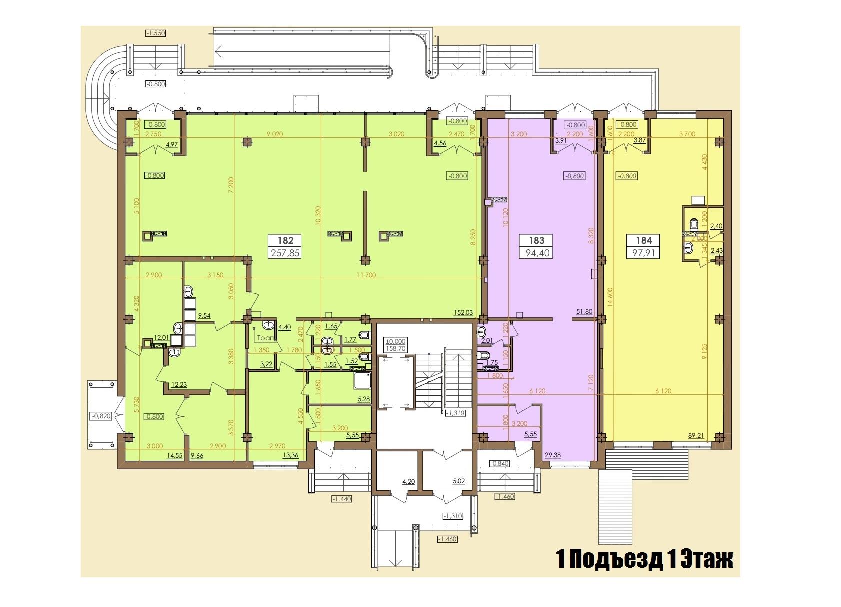 Европейская 146Е (2 Дом) 1 Подъезд 1 Этаж