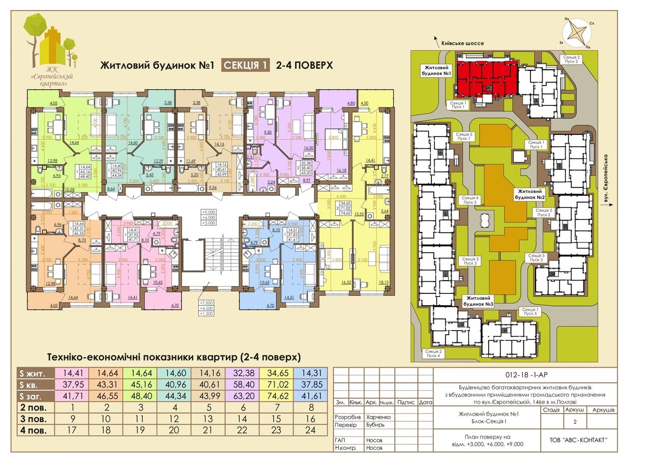 Европейская 146Е 1П 2-4этаж