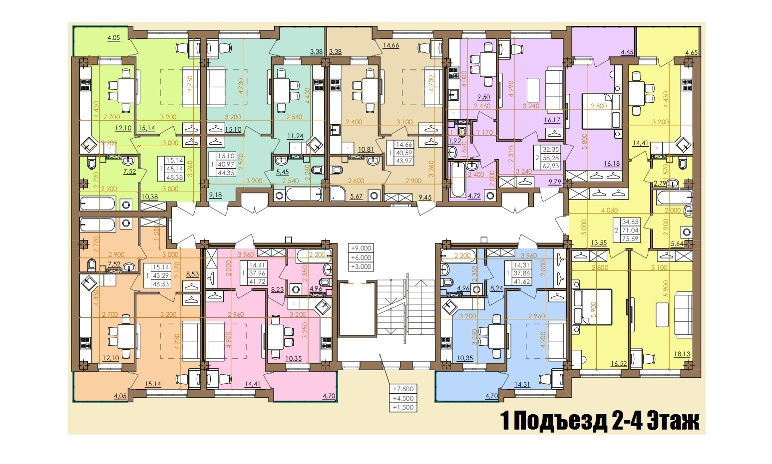 Европейская 146Е (2 Дом) 1 Подъезд 2-4 Этаж