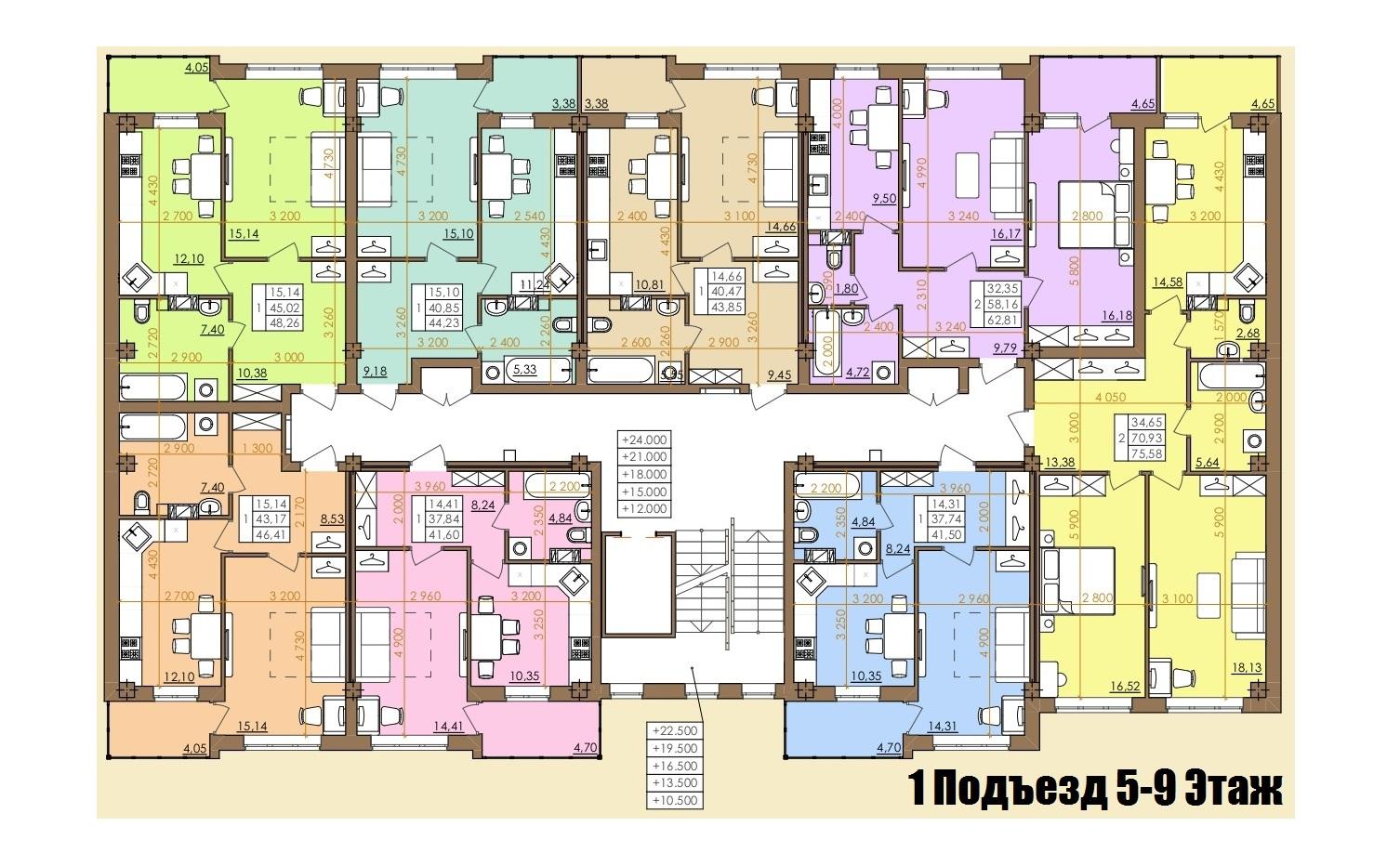 Европейская 146Е (2 Дом) 1 Подъезд 5-9 Этаж